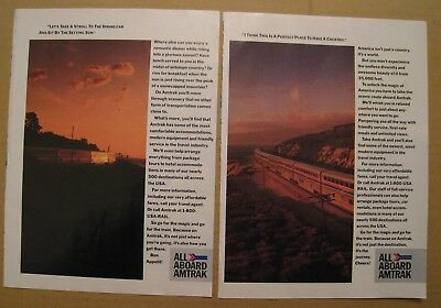 1986 Amtrak Railway - All Aboard Color AD