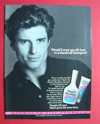 1986 Head & Shoulders Dandruff Shampoo Color AD