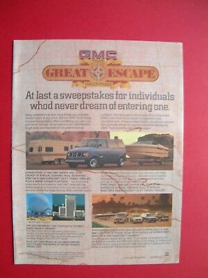 1986 GMC Truck - Great Escape Color AD