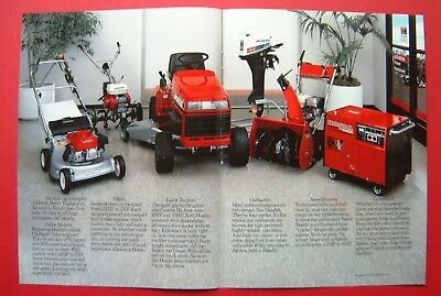 1986 Honda Lawn Mowers, Tillers, Tractors, Snowthrowers 2-pages Color AD