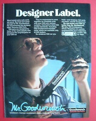 1986 Mr. Goodwrench - Designer Label: Genuine GM Parts Color AD