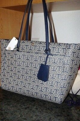 73c219a07b2f NEW WITH OUT tag Tory Burch Parker Geo T Small Tote Handbag in Navy ...