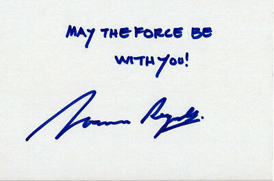 Norman Reynolds signed index card - Star Wars, Indiana Jones (Autogramm)
