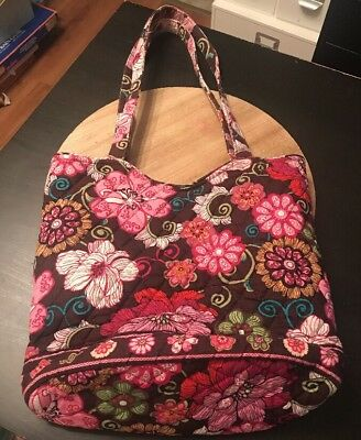 Vera Bradley Shoulder Bag Purse Retired Print Mod Floral Pink
