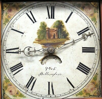 A Good Painted Longcase Dial & Movement - Peck of Wellingborough - Complete