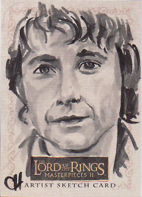 2008 Lotr Lord Rings Masterpieces 2 Sketch Card Chris Henderson - Rare!!!