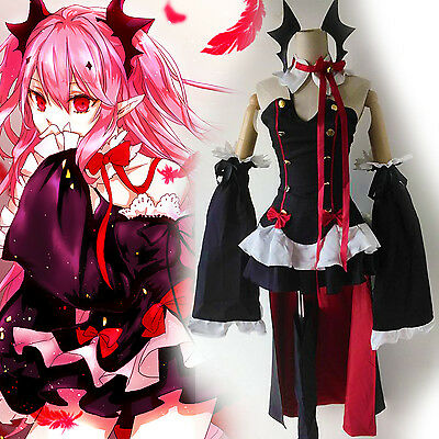 Seraph Of The End Owari no Seraph Krul Tepes Full Set Cosplay Outfit Dress Red