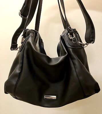 1c7a1bbee4441 Black Steve Madden Handbag - Large Black Purse with Shoulder Strap and  Handstrap