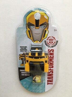 NEW Transformers Robots in Disguise Bumblebee Transforming LCD Watch (Kids)