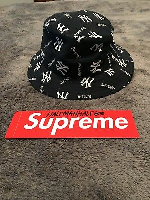 fe6bf102960 ... coupon code supreme new york yankees bucket hat navy size sm md 3a962  f7886