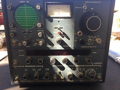 Cushman Electronics  Ce-5 Communications Monitor. Untested. + Two Manuals.
