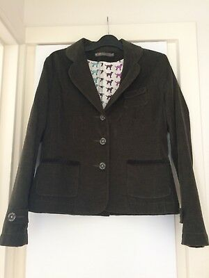 Joules of England ladies cord blazer - size  10 Olive Green