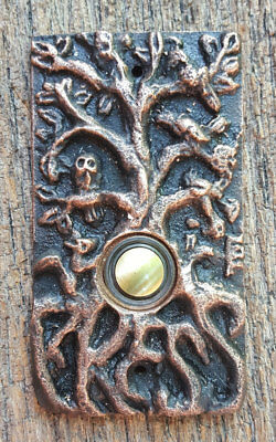 Weathered Copper Tree of Life Doorbell Button