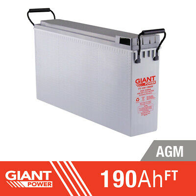 190AH 12V AGM Deep Cycle Front Terminal Battery
