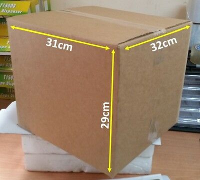 Cardboard Boxes x25 320 x 310 x 290 Packaging Carton Moving storage packing post