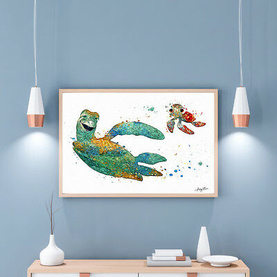 Canvas Oil Painting for Home Decor HD Print Disney Finding Nemo Wall Art 12x16
