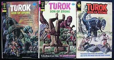 TUROK # 97, 100, 126 (LOT OF 3) GOLD KEY - painted cover art
