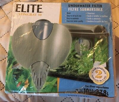 Elite Underwater Fish 10 Gallon Tank Filter stingray 10 New Never Used