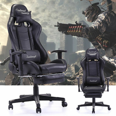 PC Gaming Ergonomic High Back Office Desk Chair Swivel Chair w/Lumbar Support