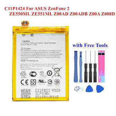 C11P1424 Spare Battery For ASUS ZenFone 2 ZE550ML ZE551ML Z008D with free Tools