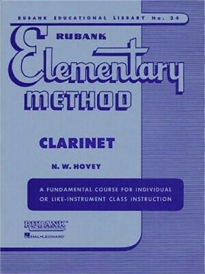 Rubank Elementary Method Clarinet (Paperback or Softback)