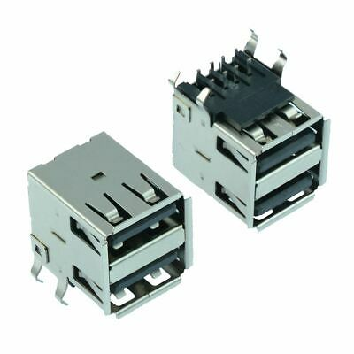 2 x Dual USB 2.0 Connector Type A Angled Socket PCB