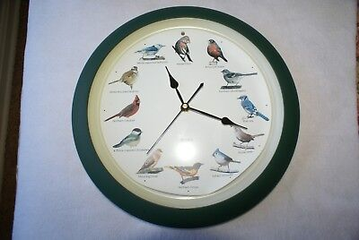 Singing Bird Clock Diff Sound Each Hour No Box  Minor Damage 3 Aa Batt