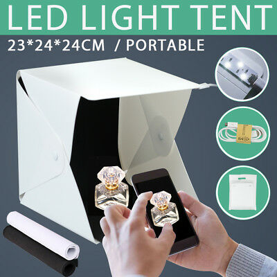 Photo Studio Light Room Photography USB LED Lighting Tent Mini Cube Box Backdrop