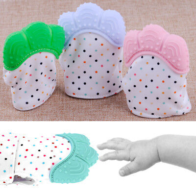 Silicone Newborn Baby Mitts Teething Mitten Gloves Candy Wrapper Sound Teether