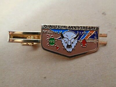 BSA O.A. 75th Anniversary MA-NU Lodge 133 Tie Clip