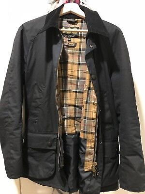 Men's Barbour 'Ashby' Wax Jacket Size M (Navy)
