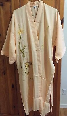 vintage silk robe with hand sewn dragon