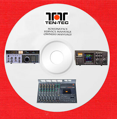 TEN-TEC REPAIR TENTEC Service schematics owner manuals on 1 dvd in