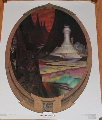 Vintage 1976 Steve Hickman Lord Of The Rings Fantasy Art Poster Set 1-5 Sealed!