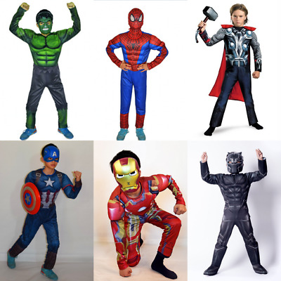 Hot Boy Kids The Avengers 3 Superhero Book Week Thor Hulk Cosplay Costume Gift L
