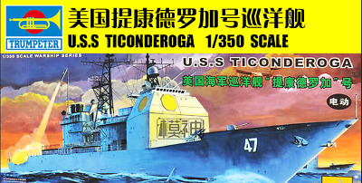 Trumpeter 80701 1/350 Assemble model , U.S.S TICONDEROGA