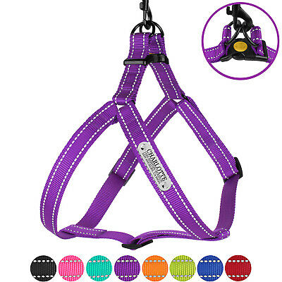 Reflective Dog Harness Personalized Adjustable Harnesses for Dogs Outdoor S M L