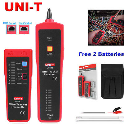 UNI-T UT682 Telephone Network Cable Wire Line LAN Cable RJ Tracker Tracer Tester
