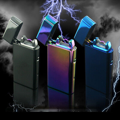 Electric Rechargeable Lighter Dual Arc Flameless USB Windproof Lighter BS3