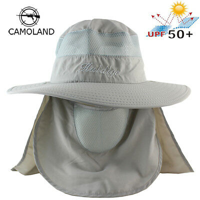 a9b25eb6bfe Wide Brim Visor Boonie Bucket Hat Sun UV Outdoor Summer Fishing Hiking  Hunting