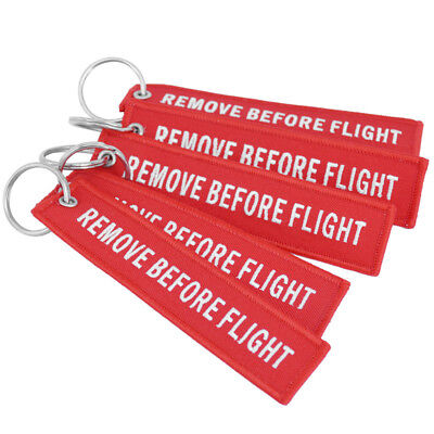 Remove Before Flight Key Ring Keychain Pilot Bag Crew Tag Luggage Keyring Faddis