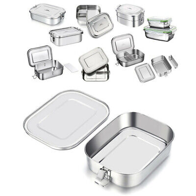 GA Stainless Steel Lunch Box Bento Food Container Storage Travel Camping Child