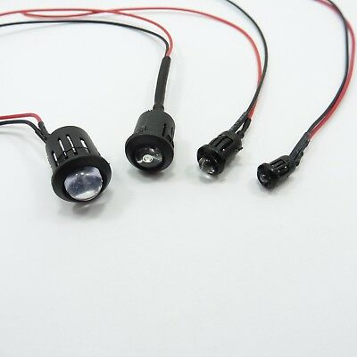 DC 12V Clear LED Diode 20cm With Holder Wire Light Emitter Pre-Wired Cable