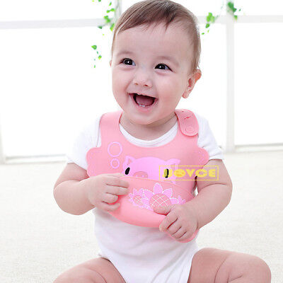 New Silicone Bibs Burp Cloths Soft Waterproof Feeding Animal Style Baby Child