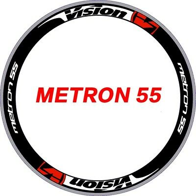 Two Wheels Sticker Set for Vision metron 55  for Road Bike Bicycle Carbon Decals