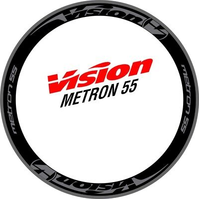 Two Wheel Stickers Set for VISION METRON 55 for Road Bike Bicycle Carbon Decals