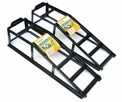 Pair Stanfred 750kg Vehicle Car Ramps Strong Steel Powder Coated