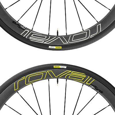Two Wheel Stickers Set for ROVAL CLX 40 Road Bike Bicycle Carbon Cycling Decals