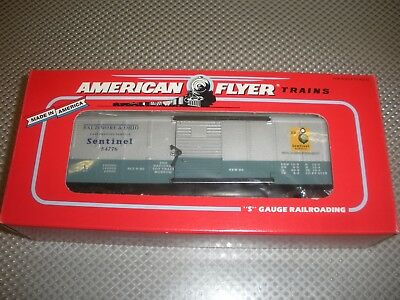 American Flyer by Lionel S Scale 6-48326 1996 TCA Car B&O Sentinel Boxcar  NEW