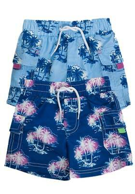 NEW Minoti Baby & Toddler Boys Palm Tree Print Swim Shorts Ages 6-12m up to 2-3y